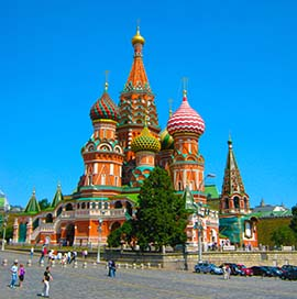 Moscow, St Basil's Cathedral, TransSiberian tour