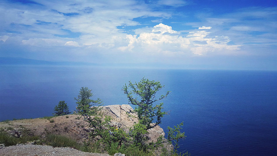 Baikal lake. Trans-siberian railway travel.