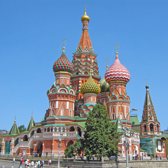 St Basil's Cathedral. A Moscow part of the Trans-Siberian tour.