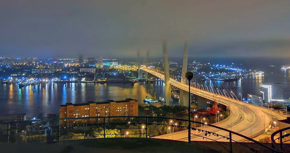 The viewpoint from Eagle's Nest Hill at Vladivostok city